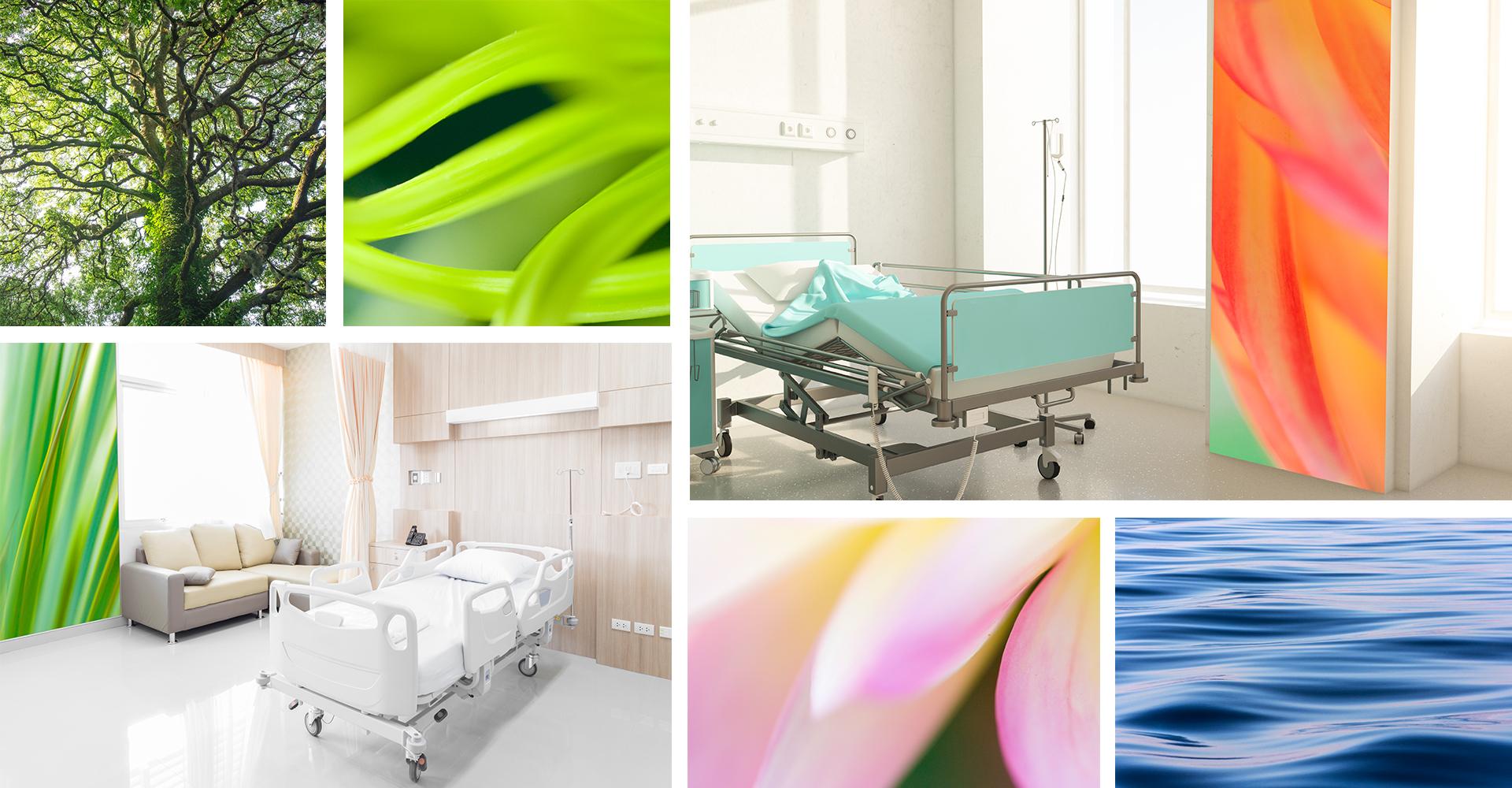 Anwendungsbeispiele Klinik | Patientenzimmer, Aufenthaltsräume