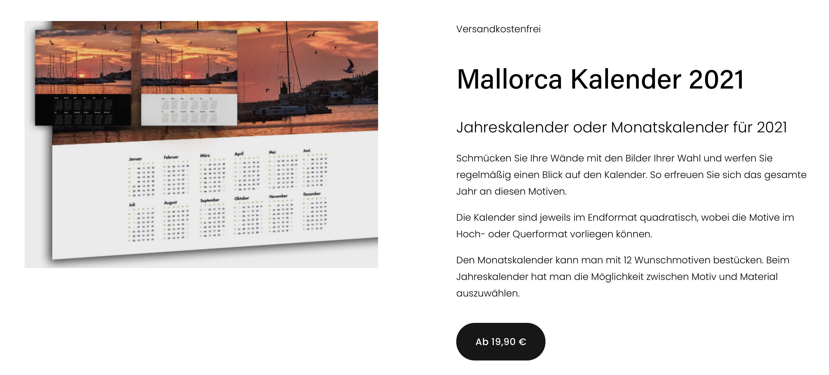Mallorca Kalender 2021