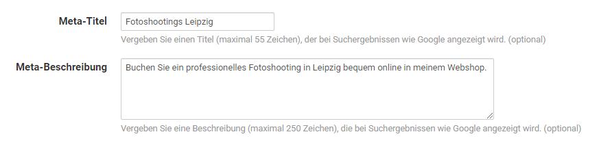 Meta-Titel und Meta-Beschreibung für eigene Seiten im Pictrs-Shop