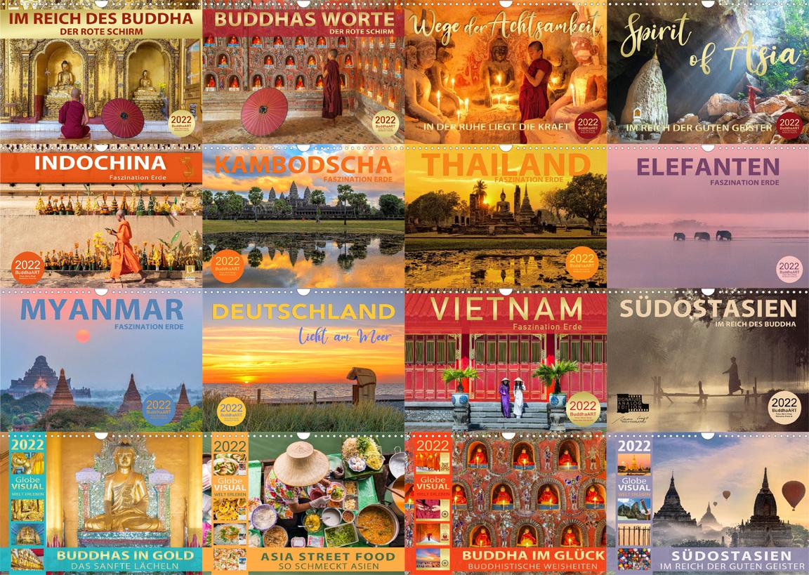 Kalender 2022 Achtsamkeit, Meditation, Yoga, Glück und Buddhistische Weisheiten