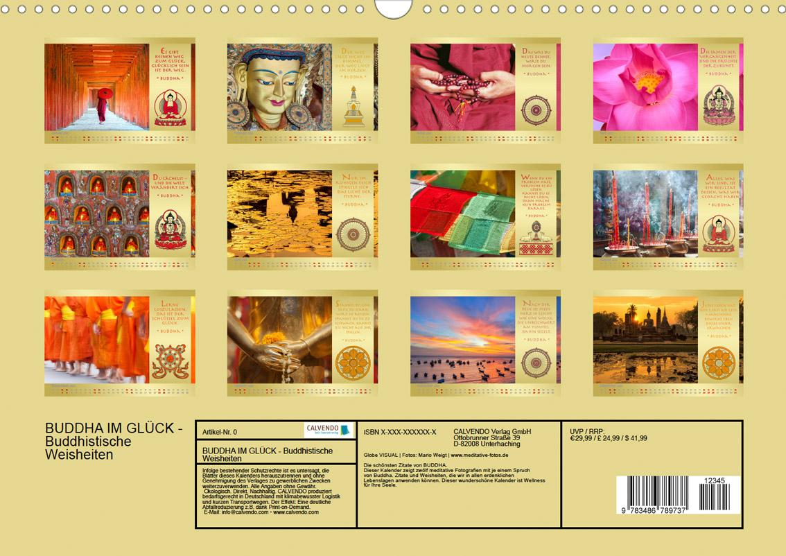 Kalender 2022 Buddha im Glück - Buddhistische Weisheiten