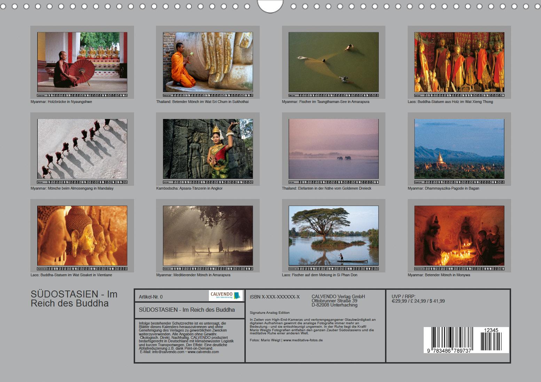 Kalender 2022 Südostasien Analog Edition - Thailand, Myanmar, Kambodscha, Vietnam und Laos
