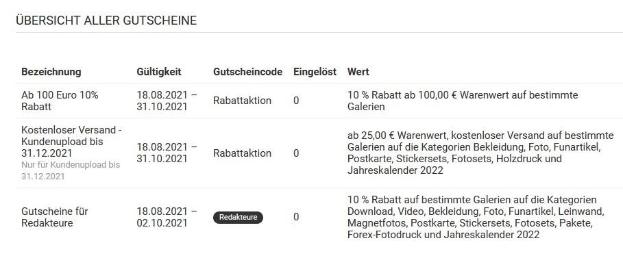 Gutscheine & Aktionen - Bildagentur Akspix
