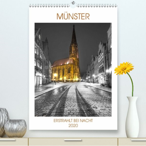 Münster -erstrahlt bei Nacht